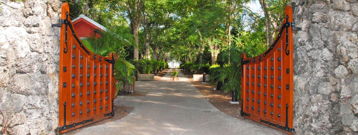 Deering Estate Main Gate Entrance to Park