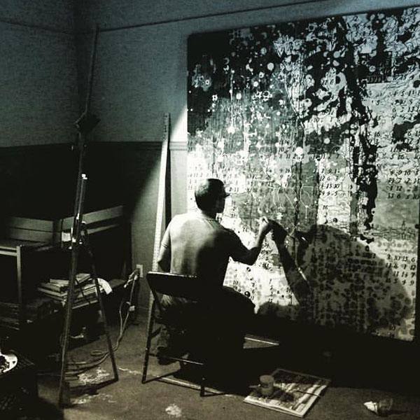 Artist in Residence John Baily painting.