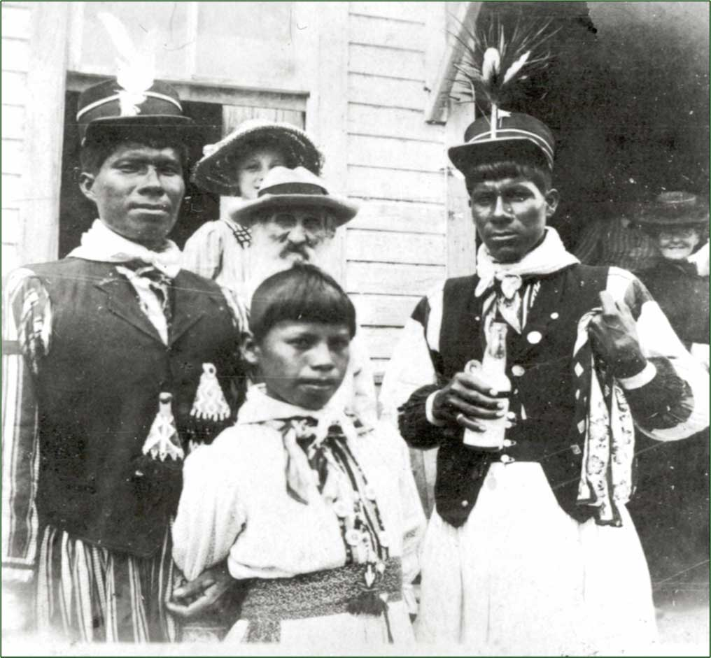 Seminoles and residents of the town of Cutler ca. 1880s