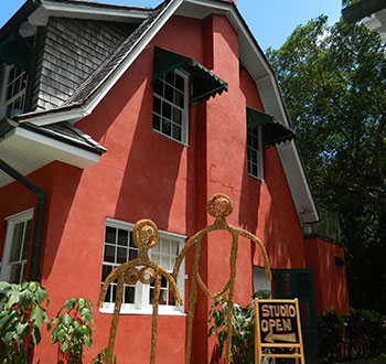Exterior view of the artists in residence studio.