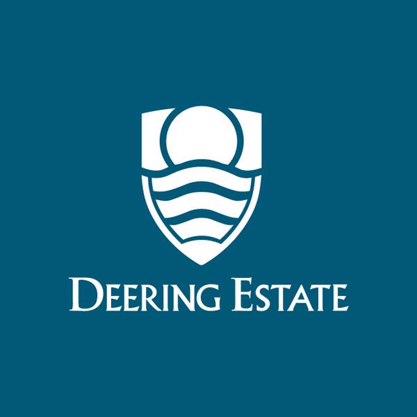 deering estate logo blue white