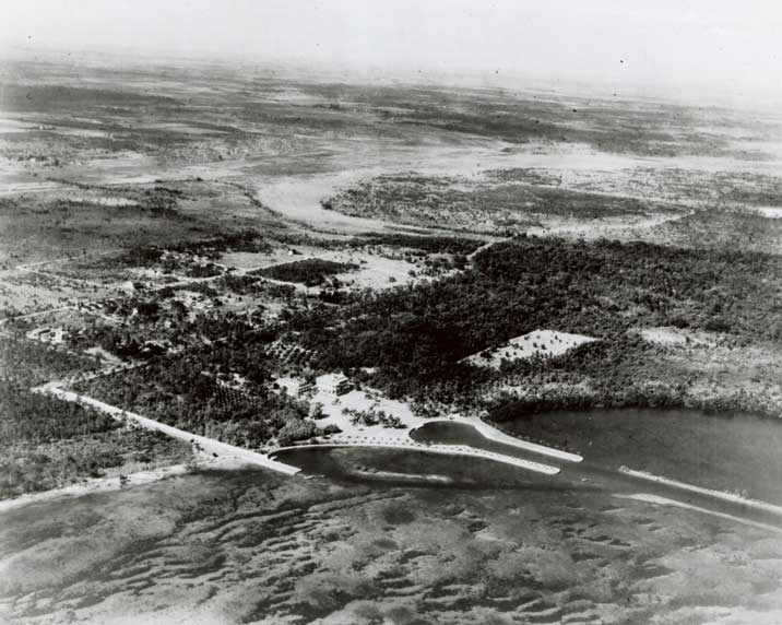 Aerial view of the Deering Estate in the 1930s shows how isolated and remote the estate was prior to modern development