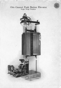 An Otis elevator in the Stone House was one of the first private residence elevators to be installed in South Florida