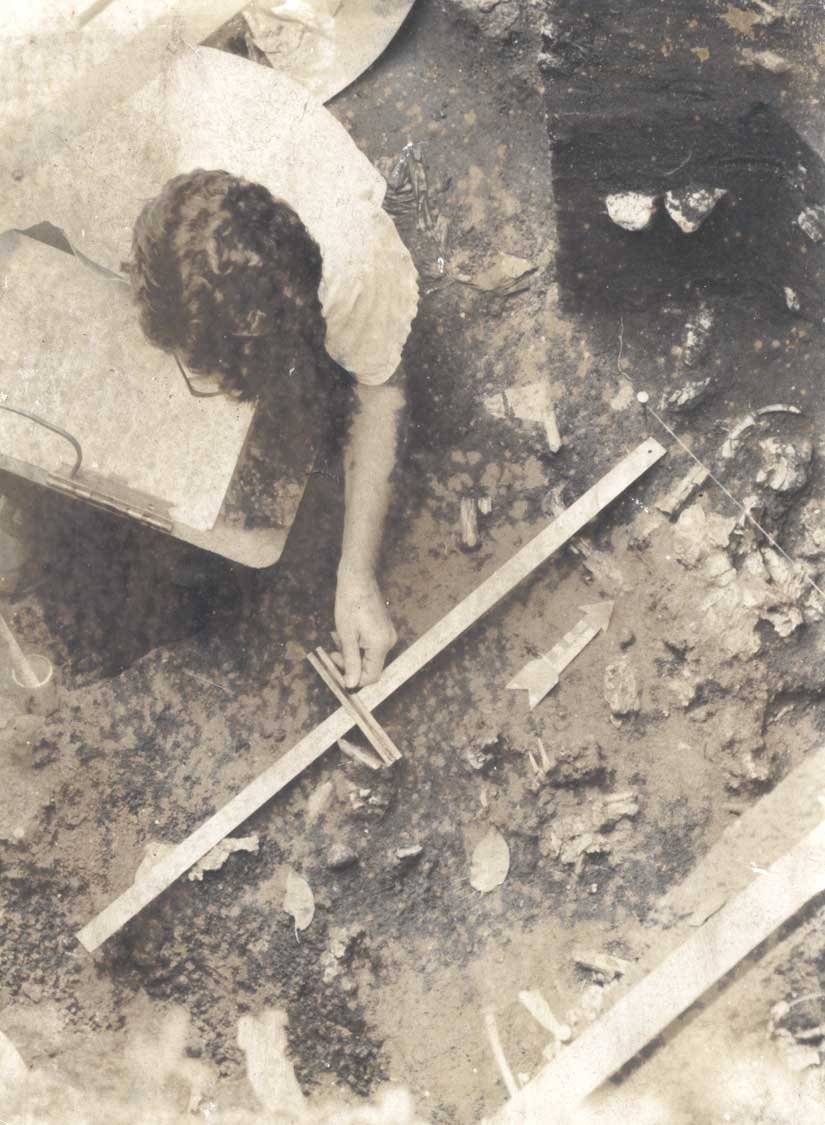 Archaeologist examining remains at the Cutler Fossil Site, the oldest site of Paleo human presence south of Lake Okeechobee