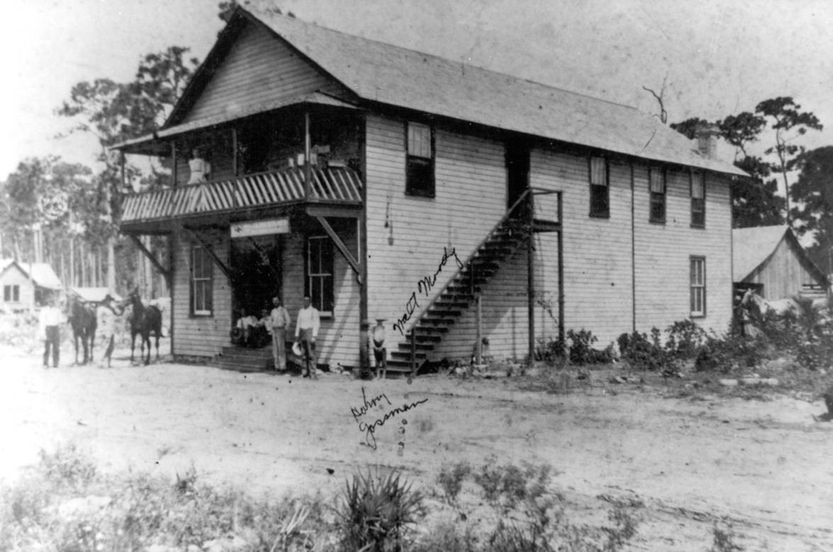 Brown & Moody General Store was one of several main town buildings along with a post office, factory, and school serving over 75 settlers