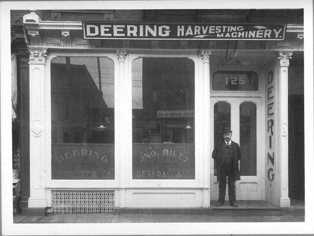 By 1879, William Deering became the sole owner of Gammon & Deering Manufacturers. Over the course of twenty years, Deering Harvester Company expanded and became a fierce competitor with the McCormick Harvesting Machine Company