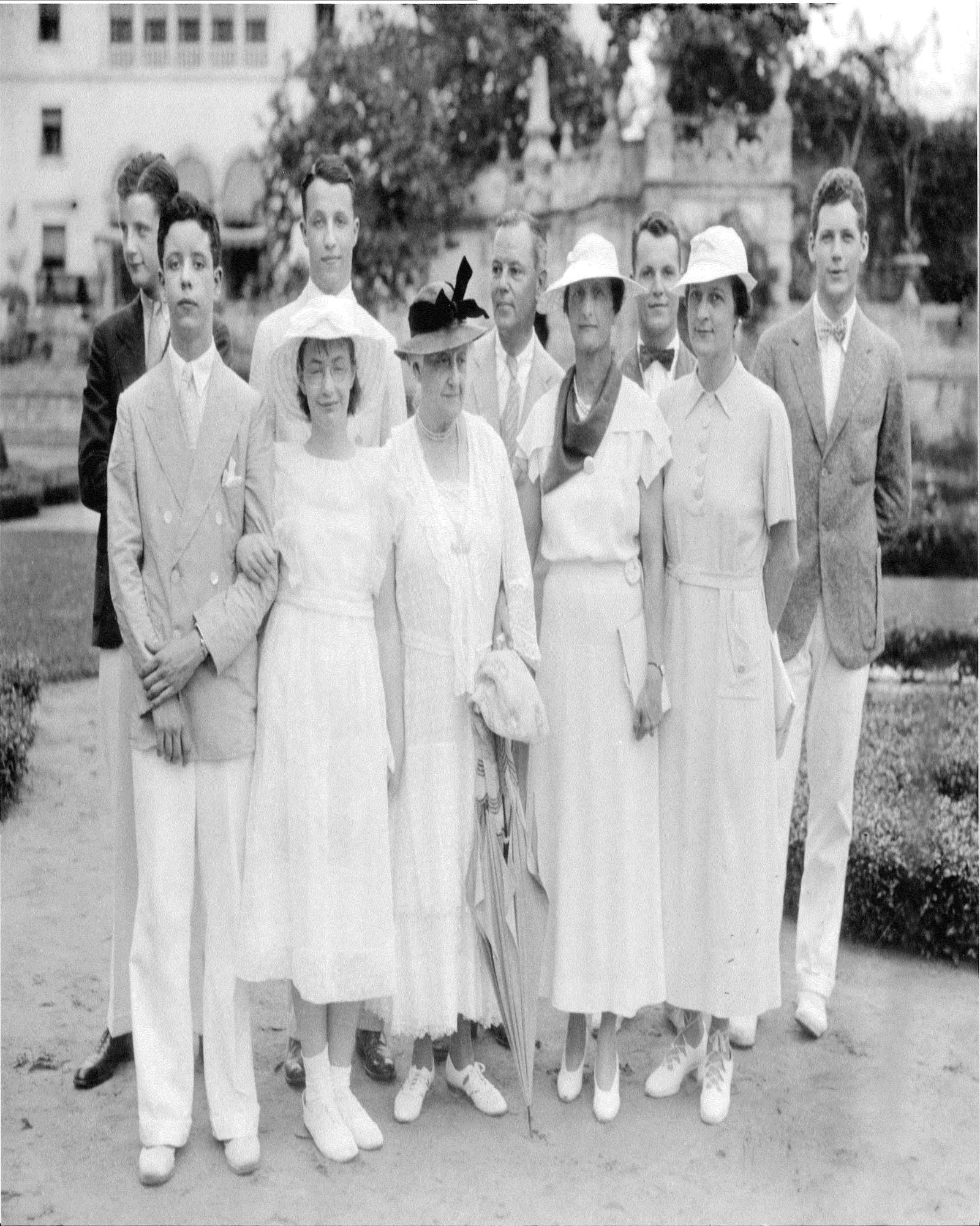 Deering family members at Villa Vizcaya, winter home of James Deering (Charles' younger half-brother) ca. 1930s