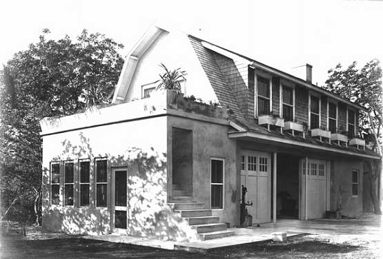 Carriage House, garage and laundry building of Charles Deering, ca. 1919.