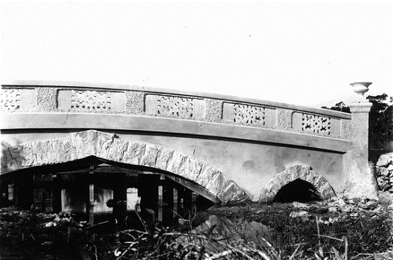 The Chinese bridge, inspired by Charles Deering's naval experience in the Asiatic Squadron