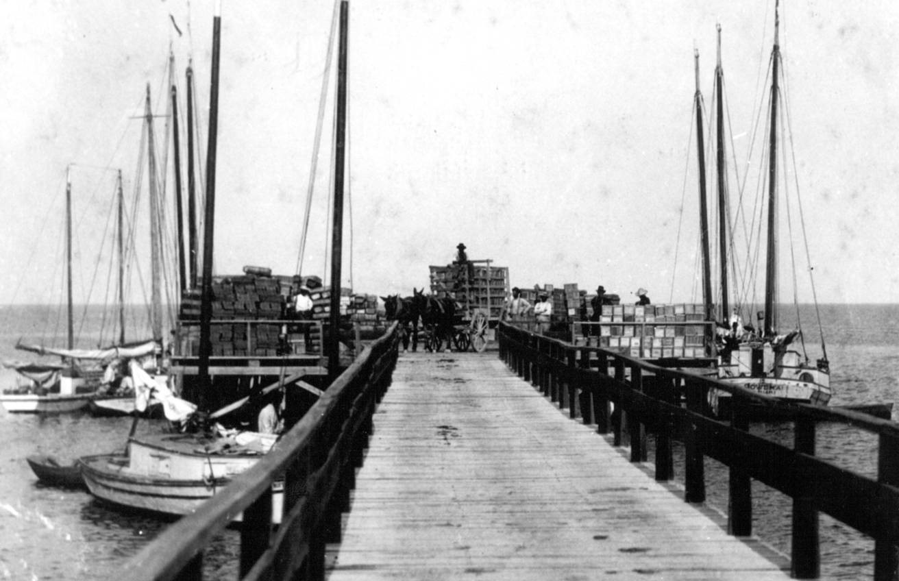 The Cutler Dock was the center of commercial activity for the town from the 1880s through the 1910s