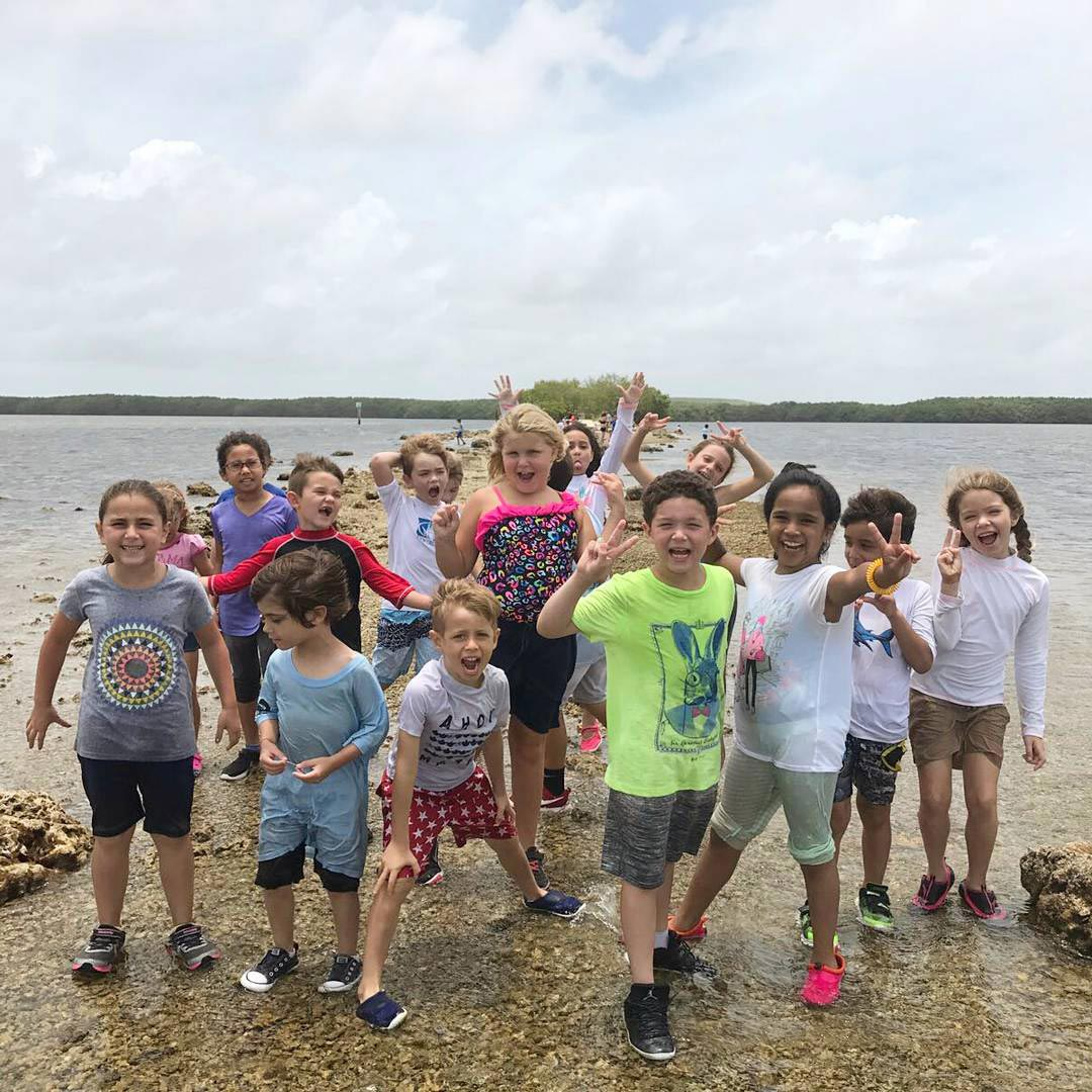 campers on a field trip to black point marina.