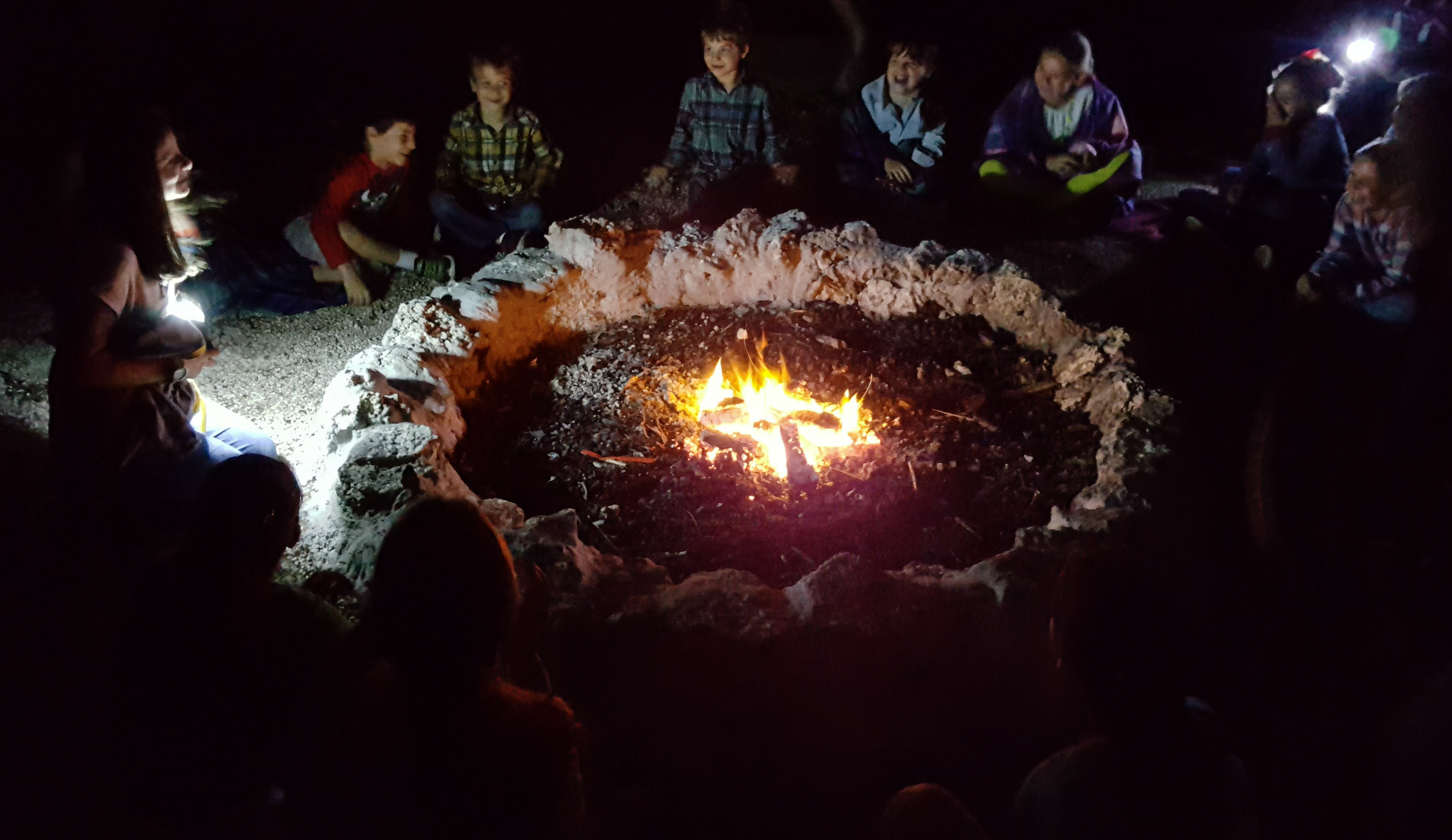 deering estate night hike and camp fire s'mores kids activities