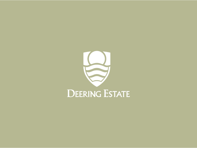 deering estate logo grey