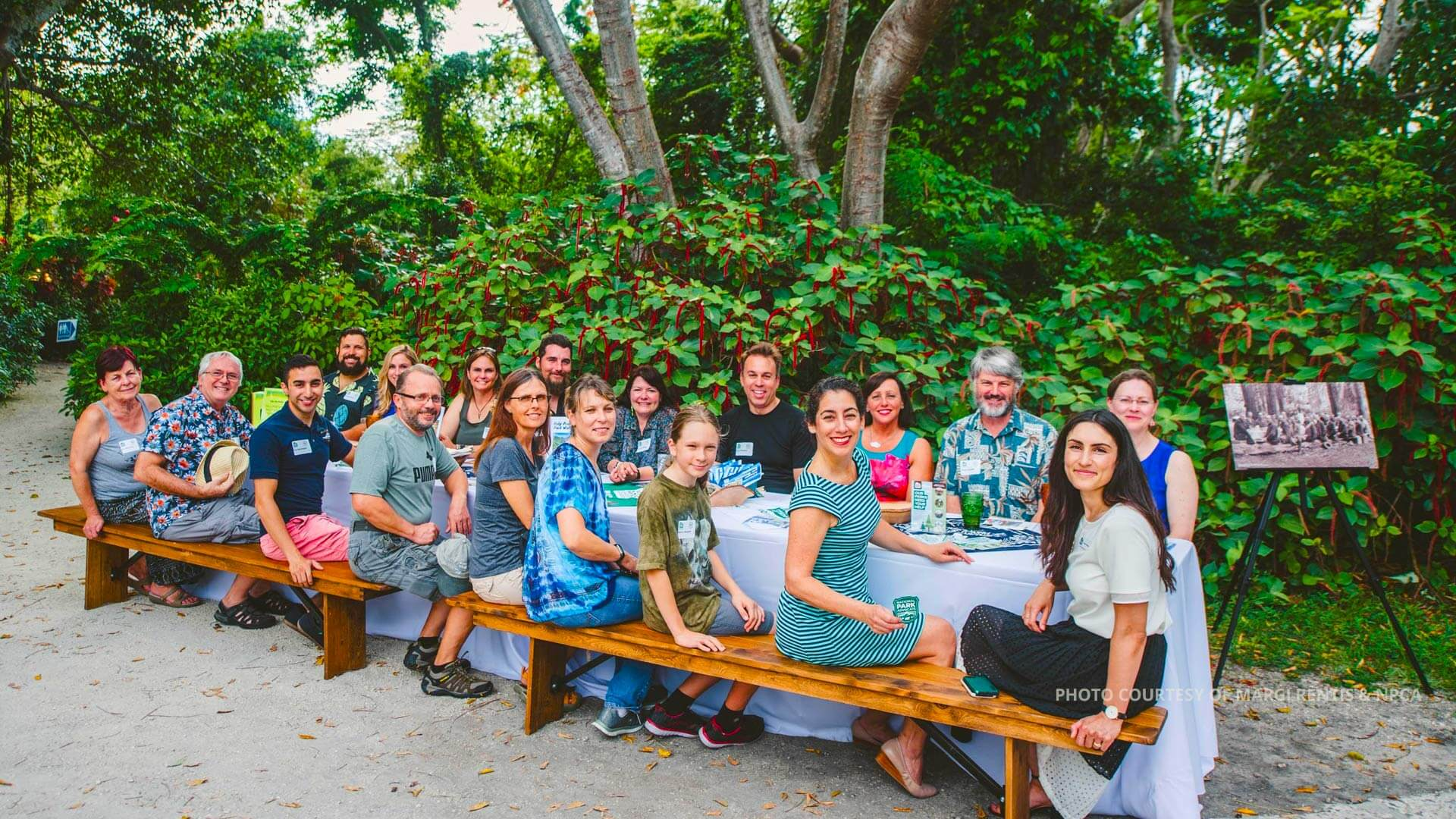 Group attending National Parks Conservation Conference picnic. Photo courtesy of Margi Rentis and NPCA