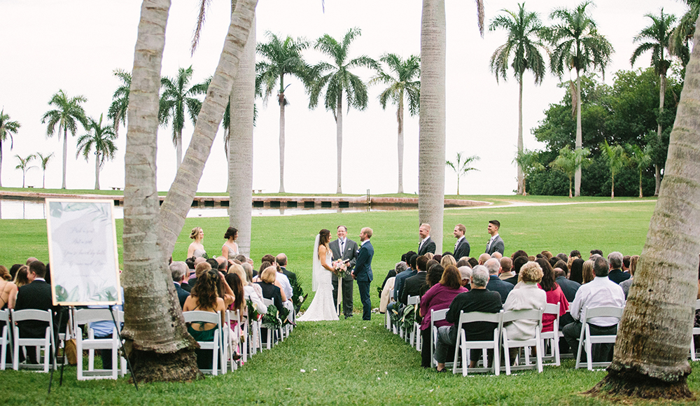 wedding ceremony in miami on the water