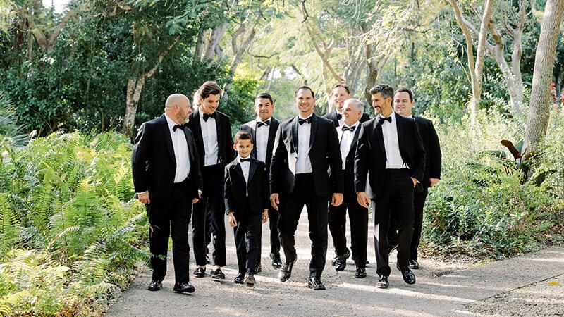 Groomsmen at the deering estate wedding