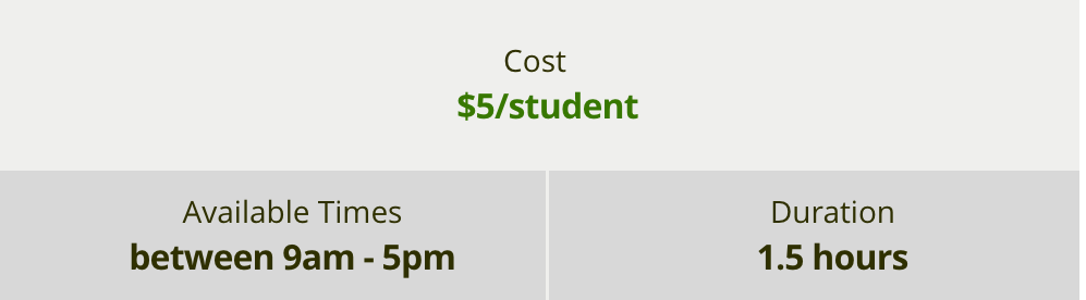 Deering Estate Virtual Programs Cost $5/student