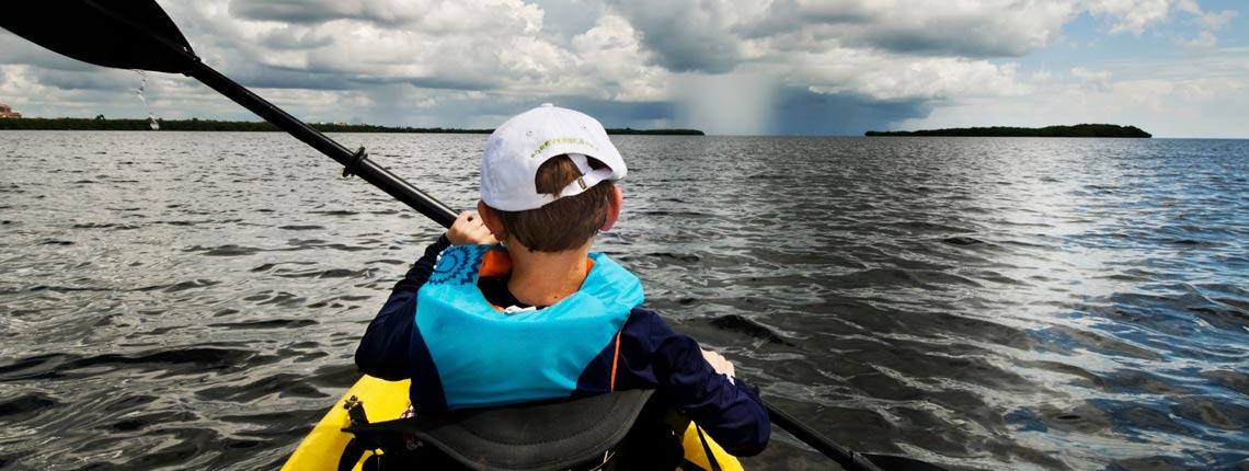kayaking in chicken key miami near deering estate