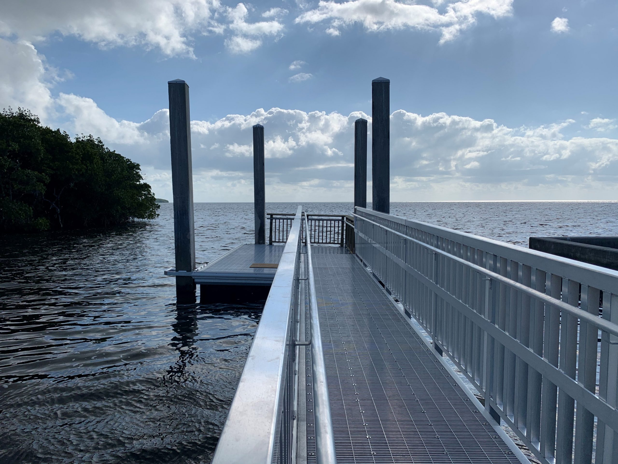 New dry dock located at the People's Dock of Deering Estate