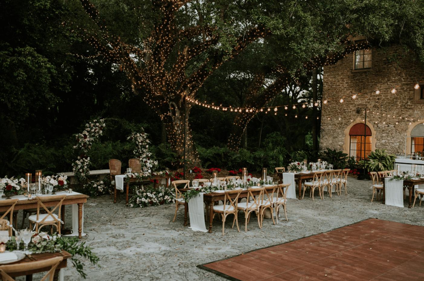 outdoor wedding in the garden in miami