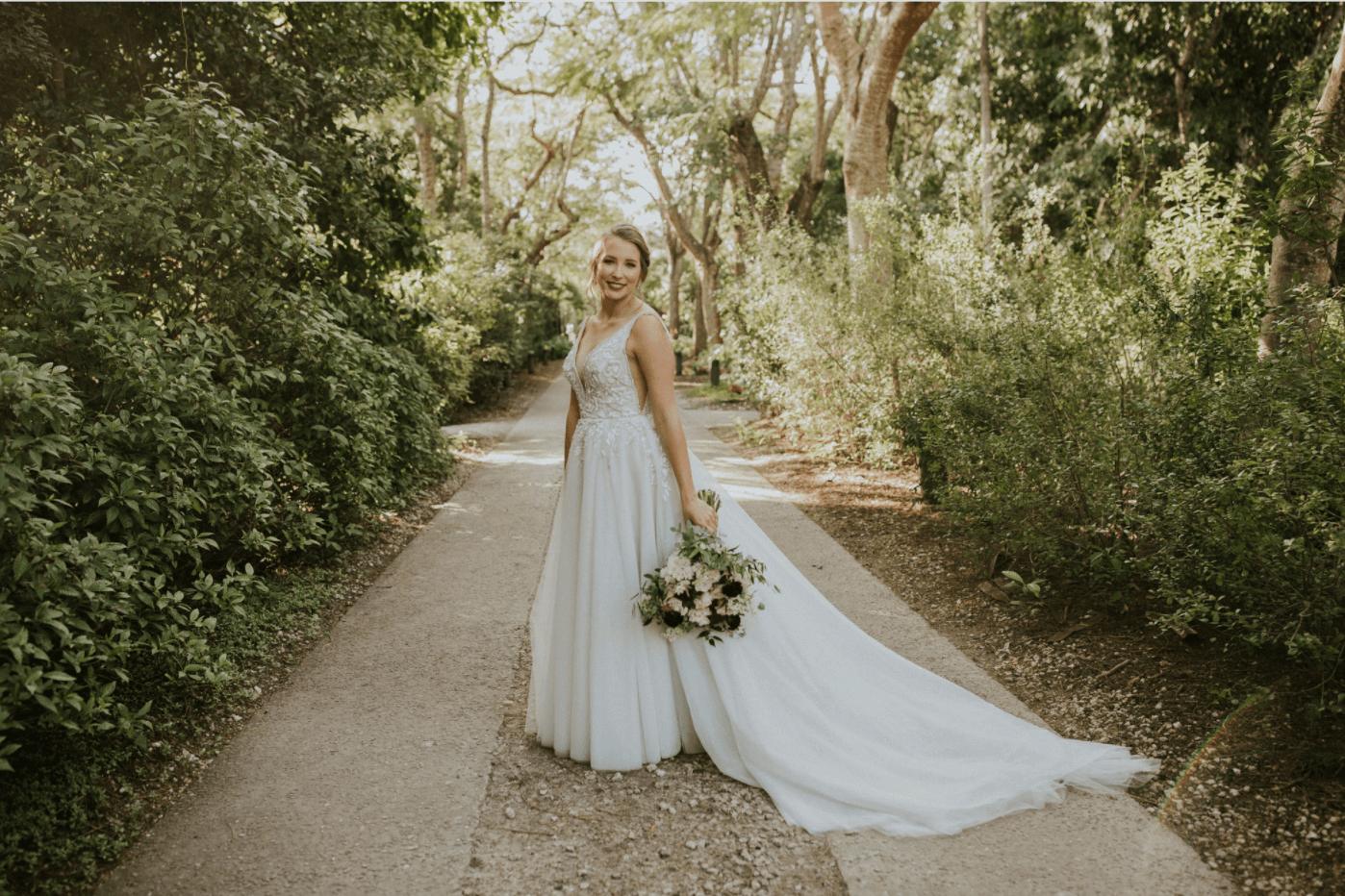miami bride at the historic deering estat waterfront wedding venue