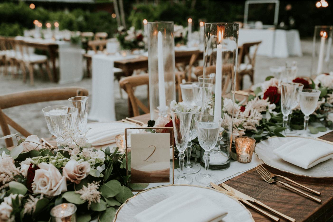 miami wedding reception table decor