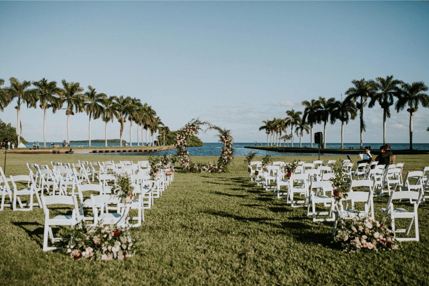 oceanfront outdoor wedding venue, miami fl