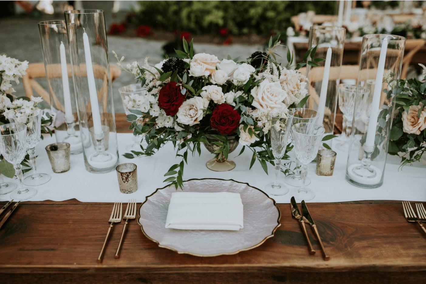 vintage wedding reception decor at miami wedding