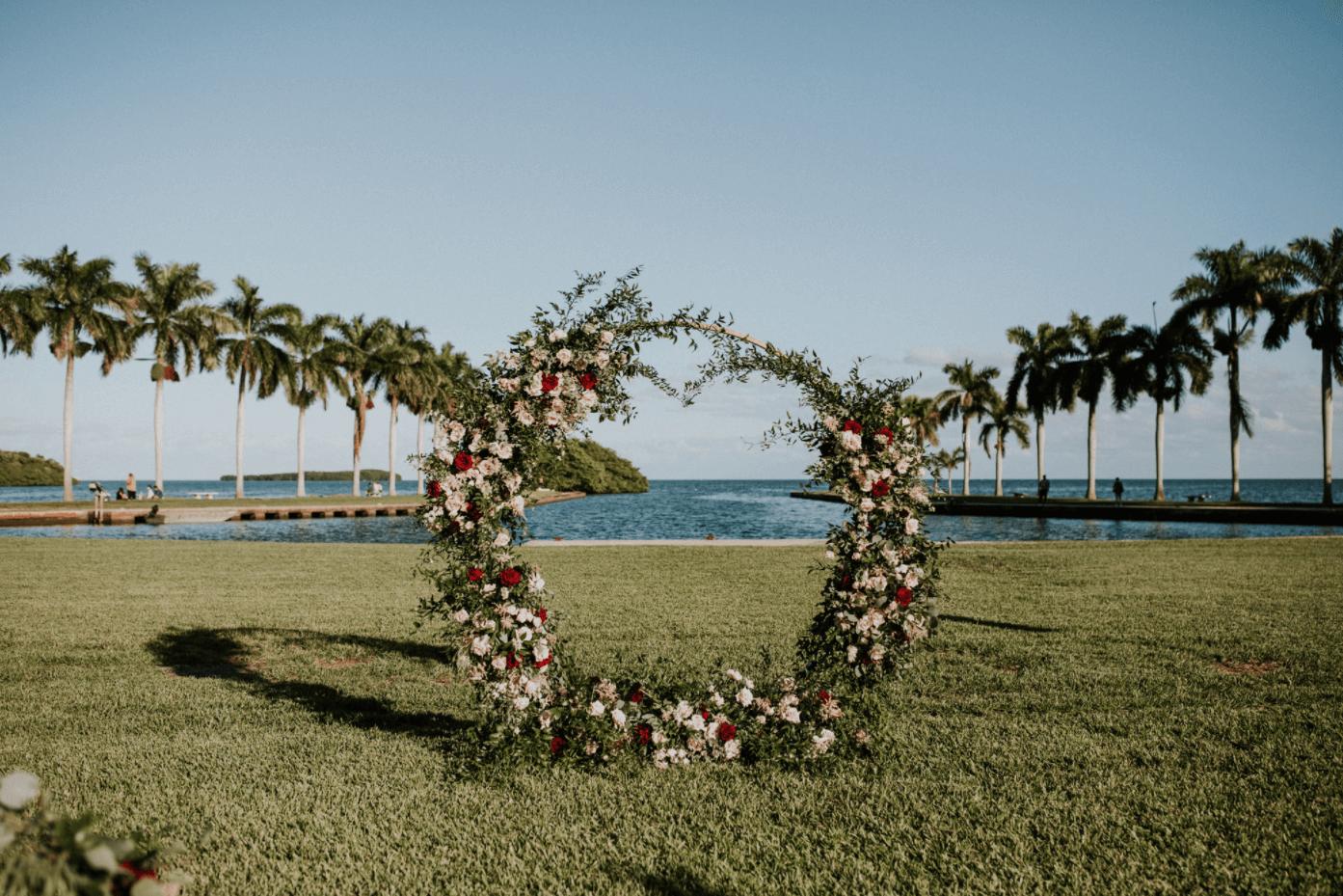 outdoor waterfront wedding decor miami fl